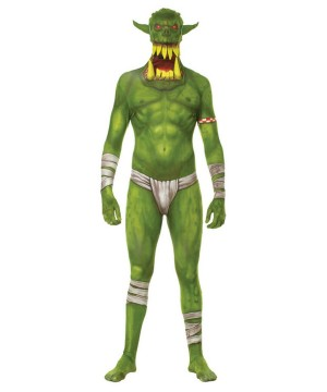 Green Orc Jaw Dropper Men Costume
