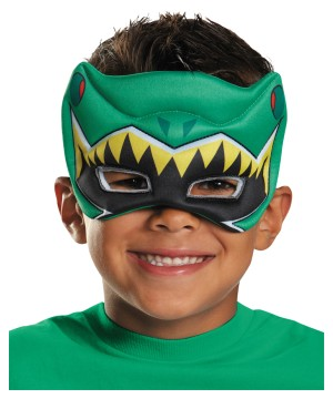 Green Power Ranger Dino Charge Puffy Boys Mask