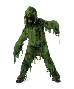 Green Swamp Monster Boys Costume