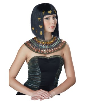 Hair-o-glyphics Egyptian Decorated Black Wig