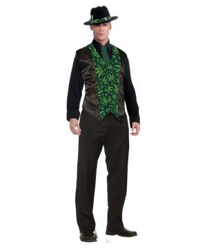 Cannabis Formal Vest Mens Costume