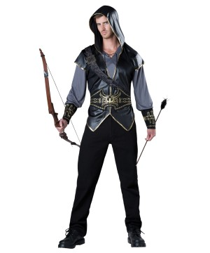 Hooded Archer Huntsman Mens Costume