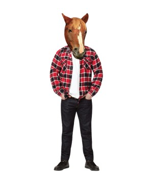 Photo Real Horse Head Mask Costume