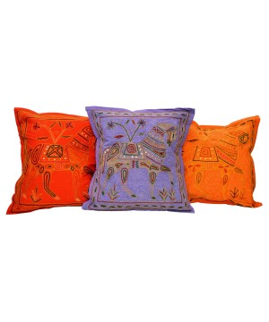 Indian Horse Motif Embroidered Cushion Covers