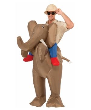 Inflatable Riding Elephant Costume