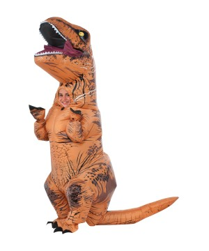 Jurassic World Inflatable T-rex Boys Costume deluxe