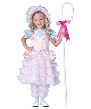 Little Bo Peep Toddler Shepherd Girls Costume