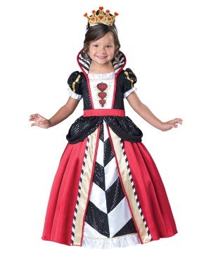 Little Queen of Hearts Toddler Girls Costume