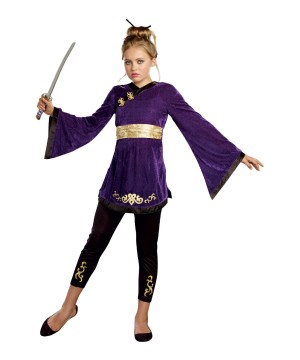 Japanese Lotus Warrior Tween Girls Costume
