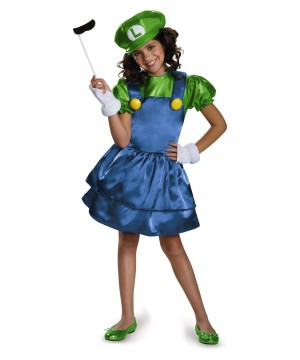 Luigi Skirt Girls Super Mario Costume