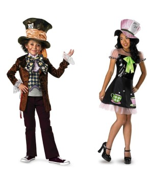 Mad Hatter Boys and Girls Costume Set