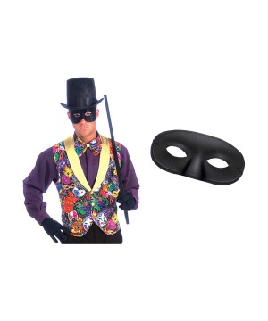 Mardi Gras Vest Bow Tie and Mask Set