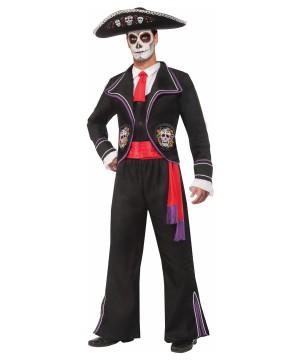 Mariachi De Los Muertos Mens Costume