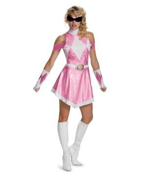 Mighty Morphin Pink Power Ranger Sassy Women Costume