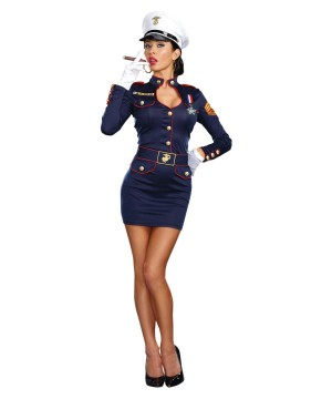 Sexy Military Captain Womens Costume