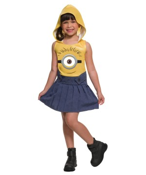 Minions Movie Minion Face Girls Dress Costume