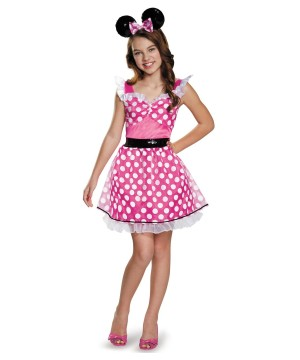 Pink Minnie Mouse Teen Girl Costume