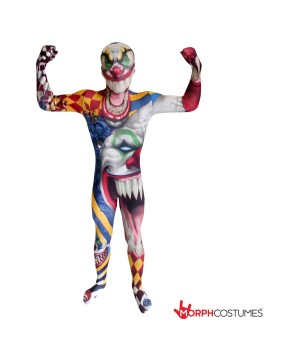 Killer Clown Morphsuit Boys Costume