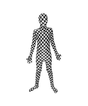 Bw Checkerboard Morphsuit Boys Costume