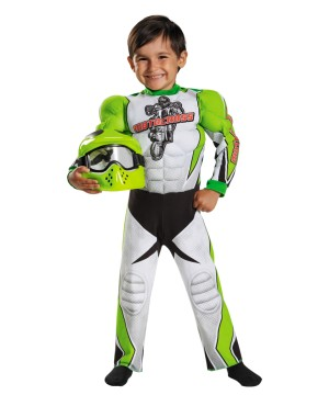Motocross Champ Toddler Boys Muscle Costume