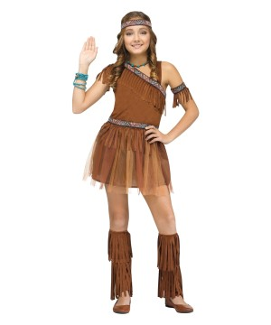 Native American Thanks Giver Girls Costume