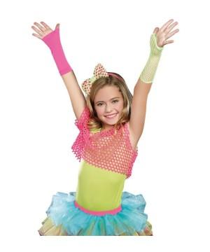 Neon Dancewear Girls Fishnet Arm Warmers