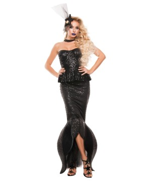 Noir Mermaid Womens Costume Prestige