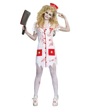 Graveyard Shift Nurse Zombie Womens Costume