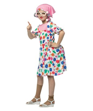 Old Maid Granny Girls Costume