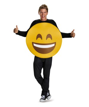 Open Mouth Smile Emoticon Costume