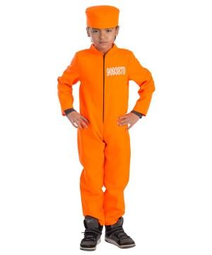 Orange Jumpsuit Prisoner Boys Costume