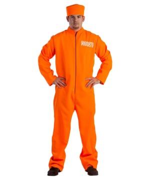 Orange Prison Jumpsuit Mens Costume