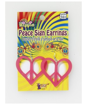 Peace and Love Hearty Hippie Earrings