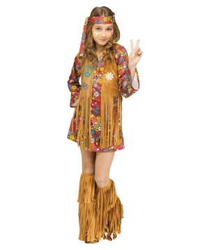 Peace and Love Hippie Girl's Costume