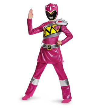 Pink Power Ranger Dino Charge Girls Costume deluxe