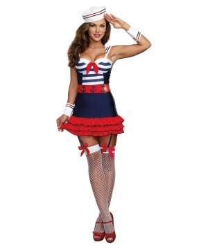 Pinup Sailor Sweetheart Women Costume