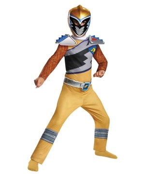 Power Rangers Dino Classic Gold Ranger Boys Costume