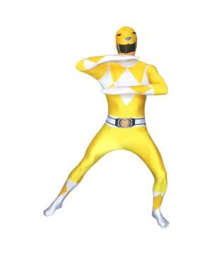 Power Rangers Yellow Ranger Morphsuit Men's Costume