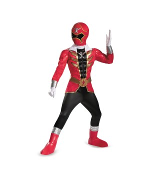 Power Rangers Red Ranger Super Megaforce Boys Costume Prestige