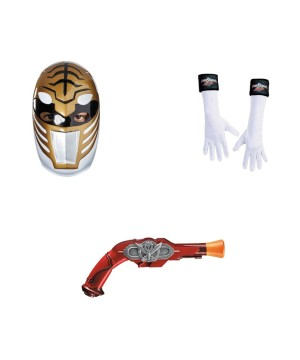 Power Ranger White Mask Glove Gun Accessory Kit