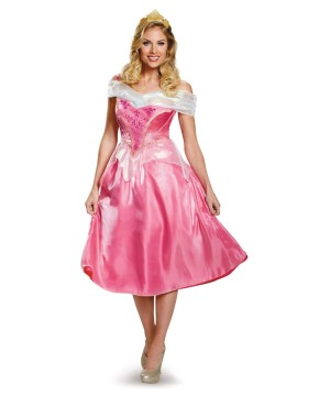 Disney Princess Aurora Pink Womens Dress Costume