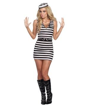 Hit the Bars Prisoner Womens Costume