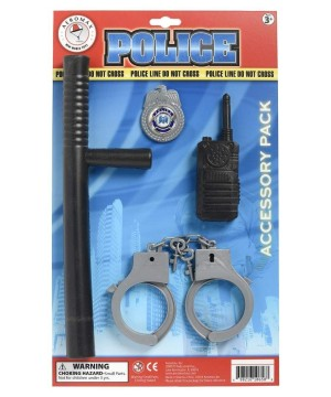 Professional Boys Policeman Costume Accessory Kit