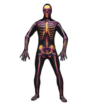 Radio Active Skeleton Skin Suit Mens Costume
