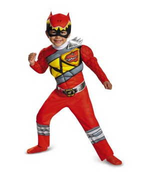 Red Power Ranger Dino Charge Toddler Muscle Costume