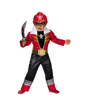 Red Ranger Super Megaforce Light-up Motion-activated Toddler/boys Costume