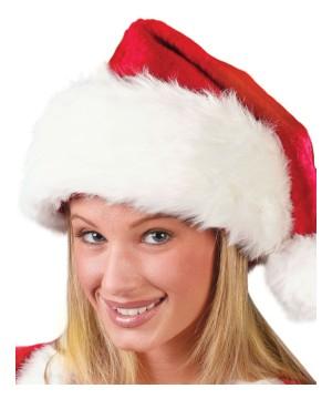 Regency Plush Santa Red or Crimson Hat