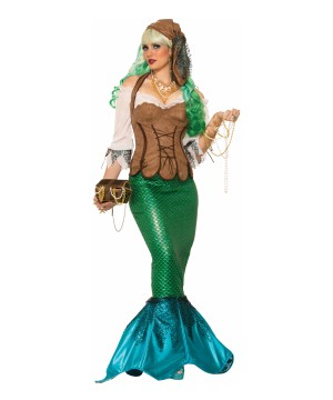 Renaissance Pirate Mermaid Womens Costume