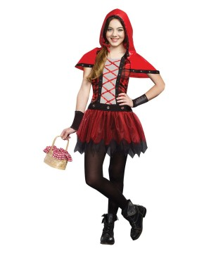 Rockin Red Riding Hood Tween Girls Costume