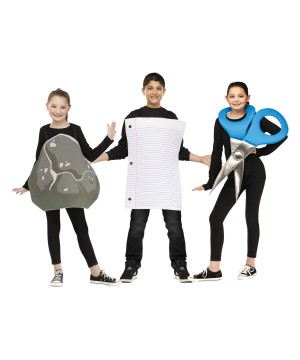 Rock Paper and Scissors Boys and Girls Costumes